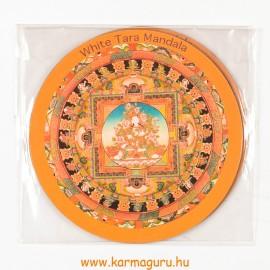 Fehér Tara mandala vékony mágnes