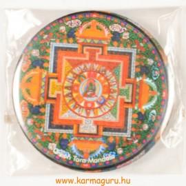 Zöld Tara mandala vastag mágnes