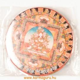 Fehér Tara mandala vastag mágnes