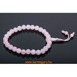 Rózsakvarc csukló mala, prémium minőség, állítható - a gyengéd nőiesség és érzékenység köve