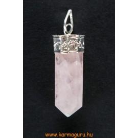 Rózsakvarc kristály medál