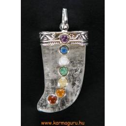 Hegyikristály medál 7 csakra kővel