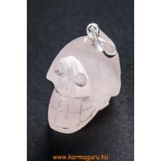 Rózsakvarc koponya medál