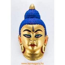 Buddha gipsz maszk, aranysárga színű
