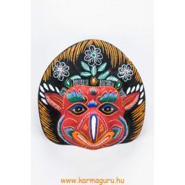 Garuda gipsz maszk, piros színű
