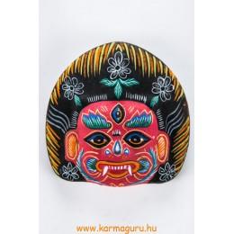 Bhairav gipsz maszk, piros színű