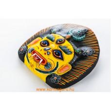Bhairav gipsz maszk, sárga színű