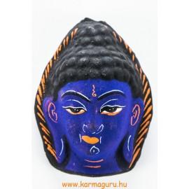 Buddha gipsz maszk, kék színű