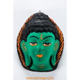 Buddha gipsz maszk, zöld színű
