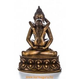 Buddha és Shakti rezin szobor, csont színű