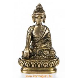 Shakyamuni Buddha réz szobor, matt sárga - 8cm