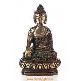 Shakyamuni Buddha réz szobor, arany-vörös - 8cm