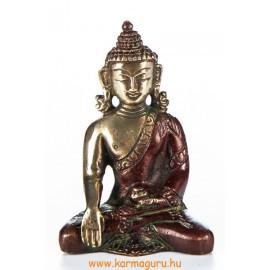 Shakyamuni Buddha szobor, arany-vörös - 8 cm