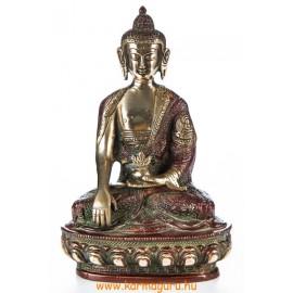 Shakyamuni Buddha réz szobor, arany-vörös - 21cm