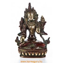 Fehér Tara réz szobor, arany-vörös - 14cm