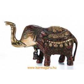 Elefánt réz szobor, arany-vörös - 8 cm