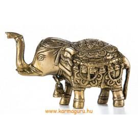 Elefánt réz szobor, matt sárga - 8 cm