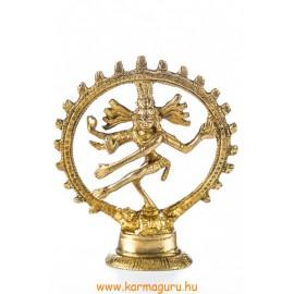 Táncoló Shiva réz szobor, matt sárga - 9 cm
