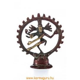 Táncoló Shiva réz szobor, arany-vörös - 9 cm
