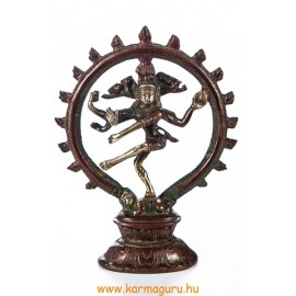 Táncoló Shiva réz szobor, arany-vörös - 19 cm