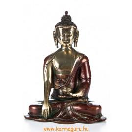 Shakyamuni Buddha réz szobor, arany-vörös - 16cm