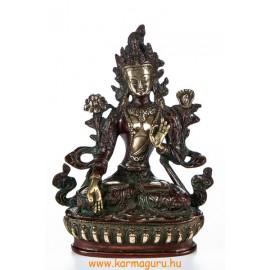 Fehér Tara réz szobor, arany-vörös - 21cm