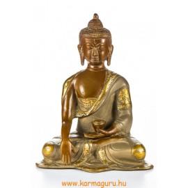 Shakyamuni Buddha réz szobor, nepáli színű - 20 cm
