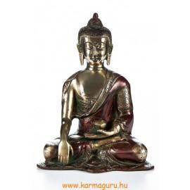 Shakyamuni Buddha réz szobor, arany-vörös - 20cm