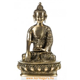 Shakyamuni Buddha réz szobor, matt sárga - 26cm
