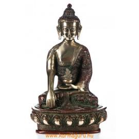 Shakyamuni Buddha réz szobor, arany-vörös - 26cm