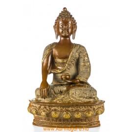 Shakyamuni Buddha réz szobor, nepáli színű - 30 cm