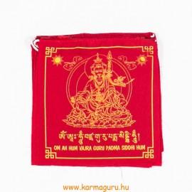 Guru Rinpoche imazászló a mantrájával