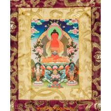 Amitabha Buddha thanka jellegű falikép