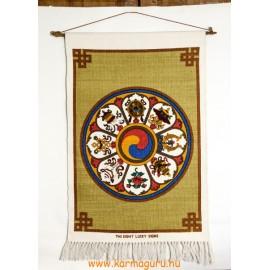 Fali szőnyeg a tibeti 8 szerencsejellel