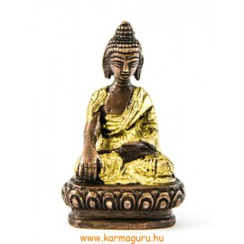 Shakyamuni Buddha réz szobor, arany-bronz - 8cm