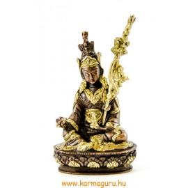 Guru Rinpoche réz szobor, arany-bronz - 14 cm