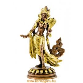 Táncoló Tara szobor réz, arany-bronz - 12,5 cm