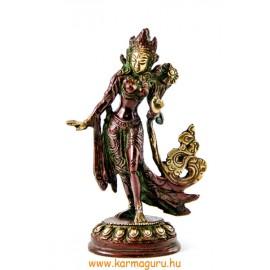 Táncoló Tara szobor réz, arany-vörös- 12,5 cm