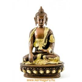 Shakyamuni Buddha réz szobor, arany-bronz - 21cm