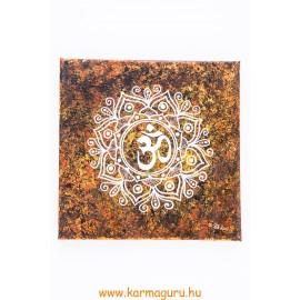 OM mandala vászon kép - barna