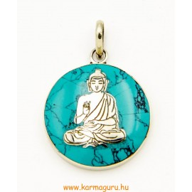 Medál, Buddhával, türkizzel