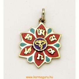Virág medál mantrával, Buddha szemmel