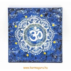 OM mandala vászon kép - kék