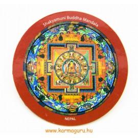 Shakyamuni Buddha mandala vékony hűtőmágnes