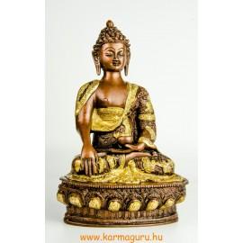 Shakyamuni Buddha réz szobor, arany-bronz - 30cm