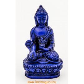 Gyógyító Buddha szobor rezin kék színű