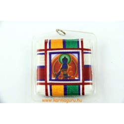 Medál, talizmán tibeti buddhista bódhiszattvákkal és szerzetesekkel