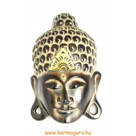 Buddha maszk barna és arany - 30 cm