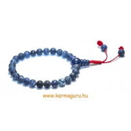 Lápisz lazuli matt csukló mala, állítható - a gyógyító gondviselés köve