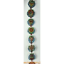 Fém lógó a 8 tibeti szerencsejellel, színes